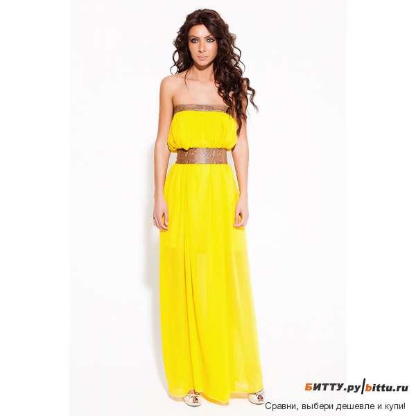 Желтое летнее платье фото